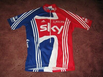 Team Gb Great Britain British Cycling Sky Adidas Italian Cycling Jersey [L]