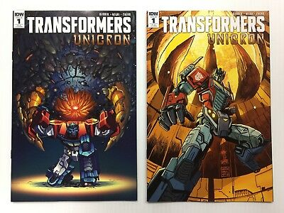 Transformers Unicron #1 RI-A + RI-B Set of 2 1:25 Retailer Incentive Covers A B