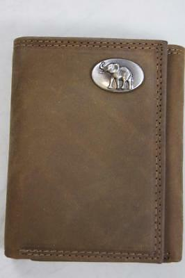 ZEP PRO NCAA Texas Longhorns Crazy Horse Leather trifold Wallet Tin Gift Box