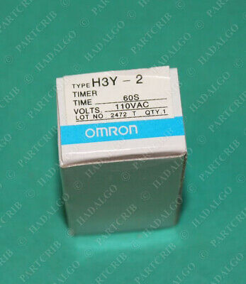 Omron, H3Y-2, Relay 60s 110VAC 5A NEW