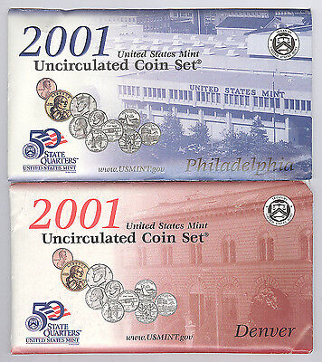 2001 United States Mint Uncirculated Coin Set