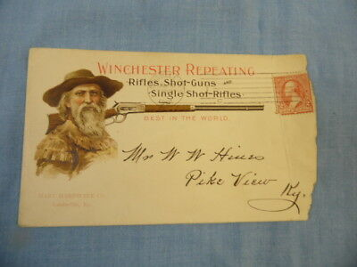 Vintage 1901 Winchester Repeating Rifle Hart Hdwe Louisville, Ky Adv. Envelope!