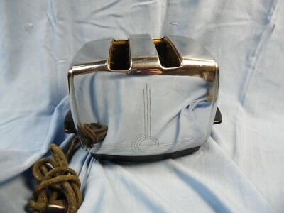 VINTAGE 1950's SUNBEAM RADIANT AUTO DROP TOASTER T-20-A w/ CLOTH CORD!
