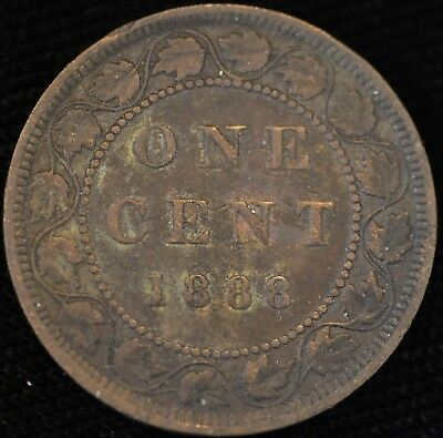 1888 FINE-VF Canadian Large Cent #2