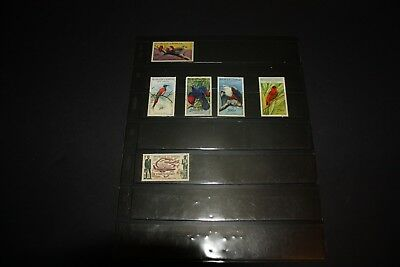 Senegal 1960's Airmail, Birds in Natural Colors Removed from Albums Hinged