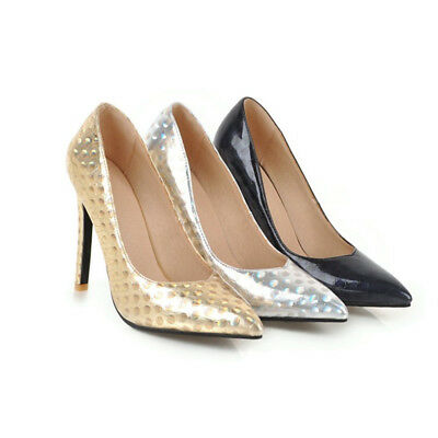 New Women's Pointed Toe Patent Leather High Heels Stilettos Pumps Party Shoes