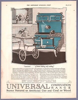 Advertising Universal Kitchen Range Saturday Evening Post Art By Rosenbaum 1921