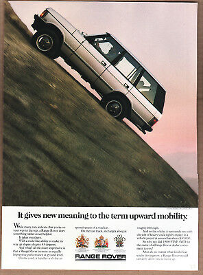 "1987 Range Rover Ad ""It gives new meaning..."" Print Ad"