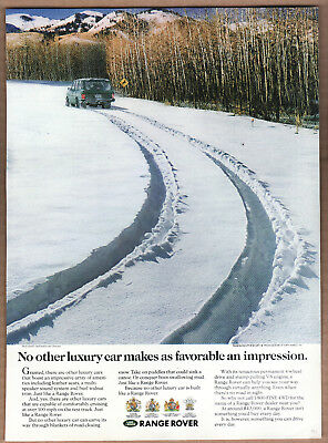 "1991 Range Rover Ad ""No other luxury car..."" Print Ad"