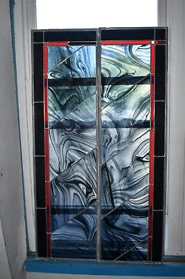 Incredible Pair Of Stained Glass Windows/panels - Beautiful Designs