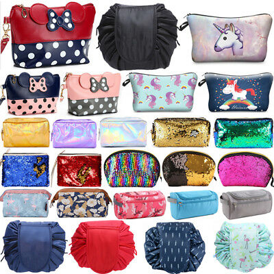 Womens Travel Cosmetic Bag Portable Zipper Makeup Bags Storage Coin Pouch Purse