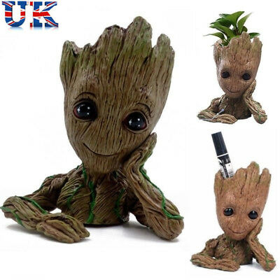 Guardians of The Galaxy Baby Groot Figure Flowerpot Style Pen Pot Toy Gifts 14CM