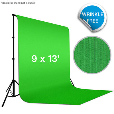 9'x13' Green Polyester Background Photography Backdrop Photo Video Wrinkle Free