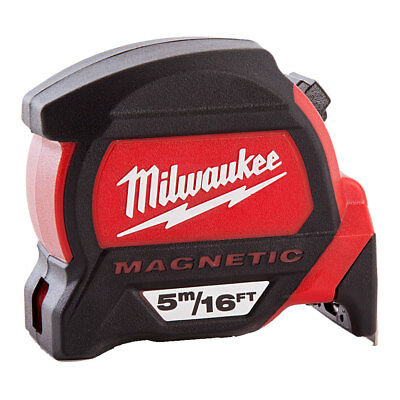 Milwaukee 4932459374 5m/16ft Premium Magnetic Tape Measure Dual Magnetic Hook