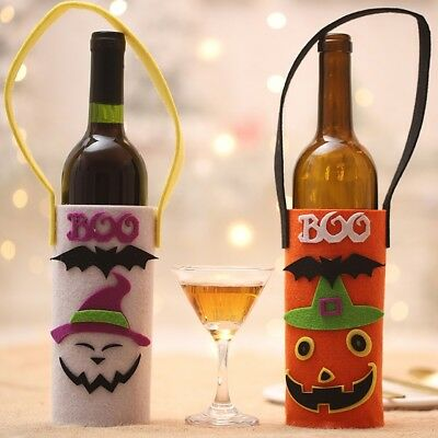 Halloween Red Wine Bottle Cover Storage Pouch Holders Bar Decor Storage Bag Hot
