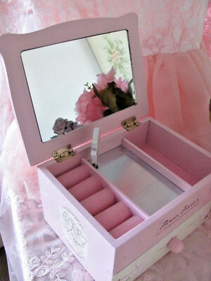 Lullaby Wooden Pink Fairy Musical Jewellery Box ~ Fancy Musical  Trinket Box