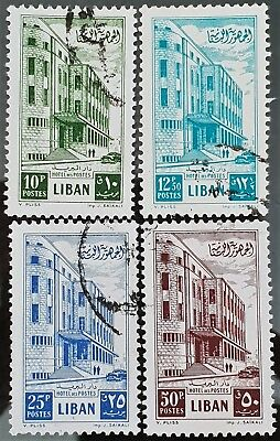 Lebanon 1953 Sc # 271 to Sc # 274 Used NH Stamps Lot #4
