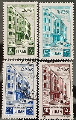 Lebanon 1953 Sc # 271 to Sc # 274 Used NH Stamps Lot #1