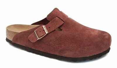 17166b538dc05e Birkenstock BOSTON Clogs Velours Leder Weichfußbett SFB port wein rot  normal NEU