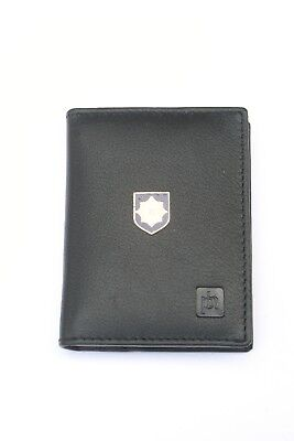Irish Guard Black Blue Real Leather Bifold Card Holder and Wallet BKG17