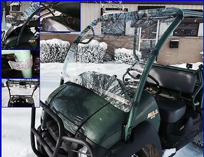 "Kawasaki MULE 600/610 Windshield ""Hard Coated"" Polycarbonate P/N: 12754"