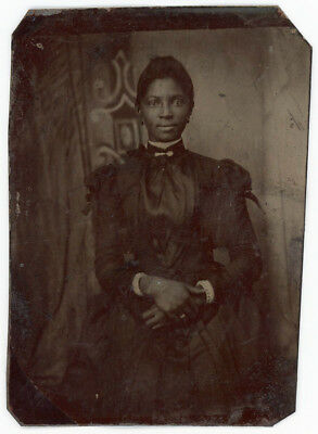 Absolutely Beautiful Black Woman Smile & A Twinkle In Her Eyes Tintype Photo