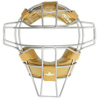 All-Star Hollow Steel FM25 LMX Traditional Baseball Catcher's Mask - Silver