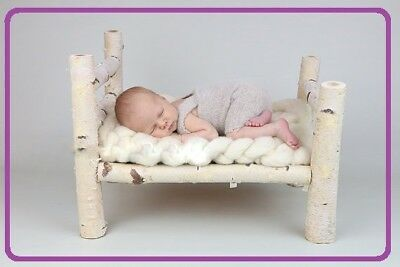 Newborn  bed  Log bed Newborn photography wooden bed prop