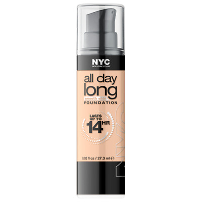 NYC All Day Long 14hr Foundation 737 Classic Ivory 27.3ml - NEW