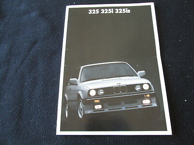 1987 BMW 3 Series Brochure E30 325is 325i 325 US Sales Catalog ex-325e