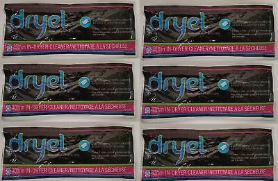 6 Pack Dryel At-Home Dry Cleaning Cloths