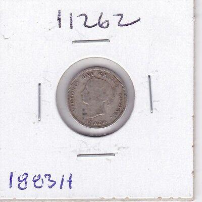 Kappyspenny Id11262 1883H Canada 5 Five  Cent Silver Circulated Collector Grade