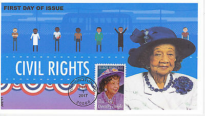 Jvc Cachets - 2017 Dorothy Height First Day Cover Fdc Black Heritage Style #2