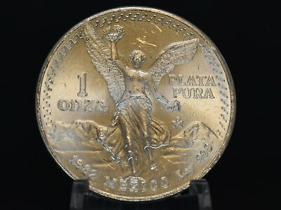 1982 Mexico Libertad Silver Uncirculated Bullion 1 oz Coin WOW!! Great Luster!!!