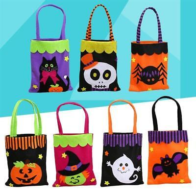Halloween Loot Party Pumpkin Witch Trick or Treat Tote Bags Kids Candy Bag