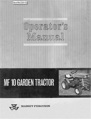 Mf 690 Operators Instruction Book Business, Office & Industrial Tractor Manuals & Publications