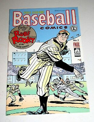 Baseball Comics #1  Kitchen Sink 1991 - Some Will Eisner Work + Intact Cards