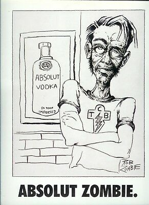 Absolut Zombie Ad-One Page Original Ad