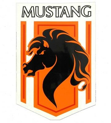 Fender Decal Stallion Driver Side Orange/Red 1976-1978 Mustang