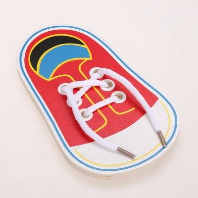 Laces Lacing Shoes Educational Kids Tie Montessori Wooden Development Early Toy