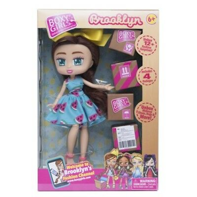 """Boxy Girls Brooklyn 8"""" Doll with 4 Surprise Boxes Plus 6 Box Fashion Pack"""