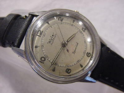 Vintage large antique WWII World War II MILITARY WYLER DYNAWIND AUTOMATIC watch
