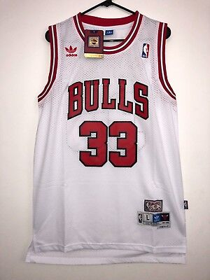 0d7b1b52d Scottie Pippen  33 Chicago Bulls White Throwback Swingman Jersey Stitched  Adidas