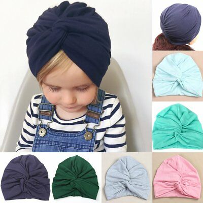 Baby Lovely Hat Cotton Soft Turban Knot Summer Hat Newborn Cap For Baby Girl