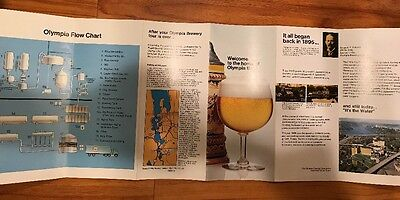 Vtg Olympia Beer Visitor Guide Brochure Booklet 1970s