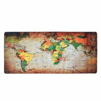 Large 900 x 400 mm Gaming Mouse Pad Desk Mat World Map Laptop Computer Keyboard
