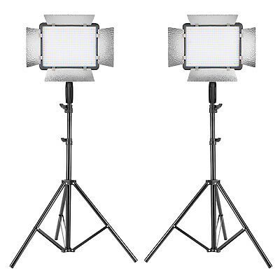 Neewer 2 Packs Photography Dimmable 500 LED Video Light with Stand Lighting Kit