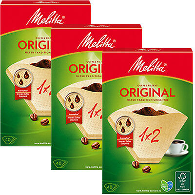 MELITTA Genuine Original Type 1x2 Aromapor Pour Over Coffee Filters x 120