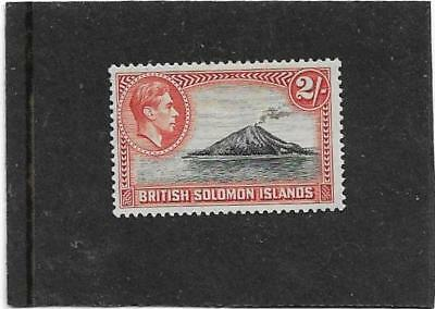 British Solomon Islands 1939 2/- Tinakula Volcano SG.69 Lightly Mounted Mint-MLH