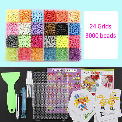 DIY Puzzle Water Magic Resin Beads Set Spray Mist Bean Educational Kids Toy
